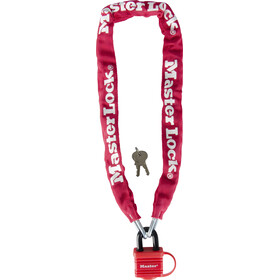 Masterlock 8390 Chain Lock 6x900mm, red